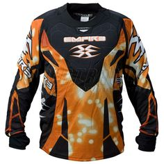 Empire ZE 2011 LTD Paintball Jersey - Spark Paintball Gear, Motorcycle Jacket, Empire, How To Wear, Jackets, Clothes, Orange, Fashion, Down Jackets