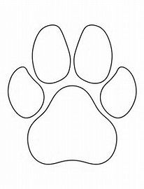 Image result for Free Wood Burning Tracing Patterns Paw Prints