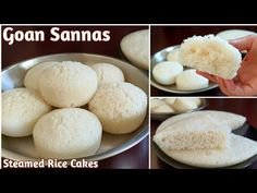 Goan Sannas Recipe | Steamed Rice Cakes | Sanna | Goan Recipes - YouTube Steamed Rice Cake, Rice Cakes, Goan Recipes, Hamburger, Bread, Videos, Youtube, Food, Breads