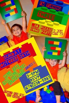 silas's lego birthday party invitation!