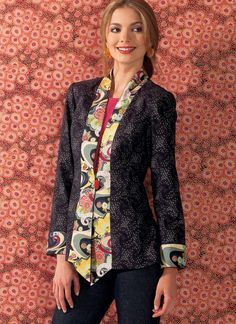 K4029 | Kwik Sew Patterns, I'd choose different fabric. Cute fitted collar jacket.