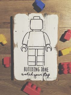 Lego sign by RufusSalvagedGoods on Etsy