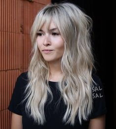 Cutest Long Wavy Hairstyles with Bangs in 2018 Wavy Hair styles Long Fringe Hairstyles, Haircuts For Long Hair, Haircuts With Bangs, Long Hair Cuts, Hairstyles 2016, Hair Long Face, Fringes For Long Hair, Bangs For Long Hair, Long Hair Fringe