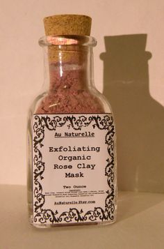 Exfoliating Organic Rose Clay Mask     Two Ounce    by aunaturelle, $18.00