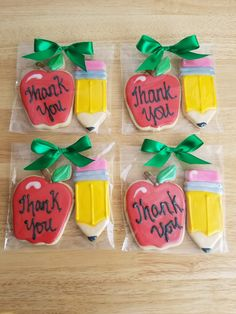 Home Plans 3 Car Garage Apple Cookies, Iced Cookies, Cute Cookies, Royal Icing Cookies, Sugar Cookies, Teacher Treats, Teacher Appreciation Gifts, Teacher Gifts, Cookie Designs