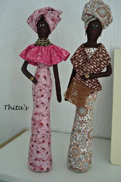 Yarn Dolls, Ooak Dolls, Fabric Dolls, Paper Dolls, Bottle Art, Bottle Crafts, African Paintings, African Dolls, Homemade Dolls