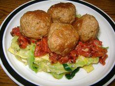 Pasta Aglio Olio With Seitan Meatballs. Photo by vegan mom