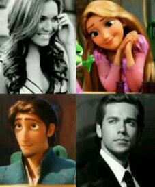 Mandy Moore as Rapunzel and Zachary Levi as Flynn.