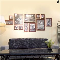 Nordic Ikea Wood Wall Frame Collection  - Set of 12 Pieces