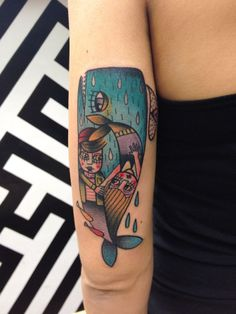 Mermaids whale tattoo by Yle Vinil Manzoni