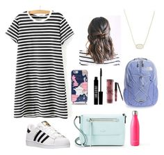 """""""first day of school outfit"""" by mkhays on Polyvore featuring WithChic, adidas, Kate Spade, The North Face, Kendra Scott, S'well, Lord & Berry and Kylie Cosmetics"""