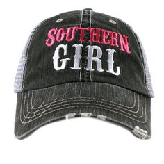 Hey, I found this really awesome Etsy listing at https://www.etsy.com/listing/212150558/southern-girl-western-trucker-hat-iad-tc