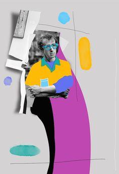 Selman Hoşgör, Midnight in Woody's color, 2016 Behance Graphic Design Print, Graphic Design Typography, Graphic Design Inspiration, Photo Illustration, Digital Illustration, Graphic Illustration, Photomontage, 90s Design, Collage Artwork