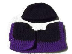 Crochet Purple Amethyst and Black Bolero Jacket by missy69 on Etsy