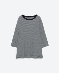 OVERSIZED STRIPED TOP - View all-T-SHIRTS-WOMAN | ZARA United States