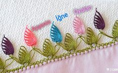 Very Easy and Fancy Colorful Floral Needle Lace Model and Expression – New Hobby Related posts:{createinspire}: Antique Sewing Machine Crochet Peacock Feather Free Patterns Embroidery Designs, Hand Embroidery, Crochet Borders, Crochet Patterns, Tatting, Sheep Tattoo, Crochet Flower Tutorial, Sunflower Tattoo Design, Needle Lace