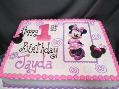 Baby Minnie Mouse 1st Birthday Sheet Cake Ninas first birthday