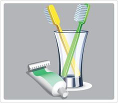 Tooth paste and brush Clip Art