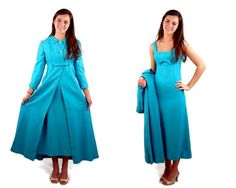 1960s coat and dress turquoise dress coat with by vintagerunway, $89.00