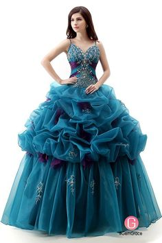 Only $238.99, Special Occasion Dresses Ball-Gown V-neck Sweep Train Tulle Prom Dress With Cascading Ruffles Beading #CH0020 at #GemGrace. View more special Special Occasion Dresses,Quinceanera Dresses now? GemGrace is a solution for those who want to buy delicate gowns with affordable prices, a solution for those who have unique ideas about their gowns. Find out more>>