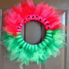Watermelon Wreath by twonewbeginnings on Etsy, $45.00