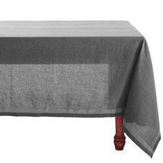 "Coyuchi Simple Stitch Chambray Tablecloth - 70x108"", Organic Cotton-Linen - Save 58%"