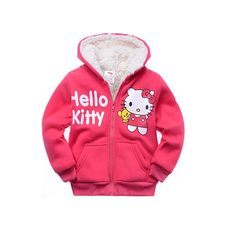 >> Click to Buy << 1pc Retail Baby girls Cartoon Hello Kitty Winter fur coat,children outerwear,girls cotton thick warm hoodies jacket kids clothes #Affiliate
