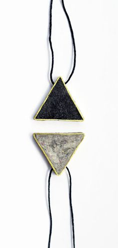 Pulp & Brass Triangle Pendant Necklaces