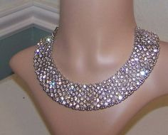 VintageInspired Rhinestone Wedding Necklace by sugarplumcottage