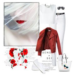 """""""Untitled #1193"""" by jothomas ❤ liked on Polyvore featuring Closed, Versace, Alice + Olivia, rag & bone, Karl Lagerfeld and Georg Jensen"""