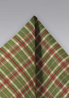 Kavaliertuch Karo-Muster grün rot