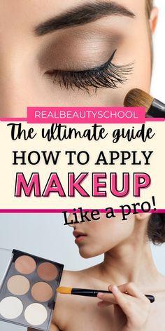 Pro Makeup Tips, Face Makeup Tips, Makeup Tutorial Foundation, Makeup Guide, No Foundation Makeup, Flawless Makeup, Best Contour Makeup, Makeup Basics, Best Makeup Tutorials