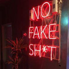 No fake s***