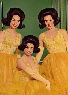 The DeCastro Sisters, 1960s.  Scary.