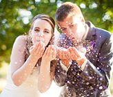 Coeur D'Alene Navy Blue and Purple Wedding