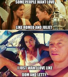Fast and Furious love Fast And Furious Letty, Fast And Furious Memes, Fast And Furious Actors, The Furious, Cute Relationship Goals, Cute Relationships, Dom And Letty, Dominic Toretto, Furious Movie