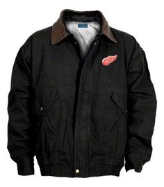 Reebok Detroit Red Wings Navigator Jacket Large by Dunbrooke Apparel. $99.99. You'll be ready for the weather when wearing the Reebok® NHL® Navigator jacket. This officially licensed jacket displays the logo of your squad on the left chest and is crafted using a durable canvas fabric that keeps you protected in the cold, with a snap-down front zipper storm flap that keeps wind out.