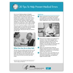 20 Tips to Help Prevent Medical Errors - Qsource Drugs, Safety, Medicine, Wellness, Wedding Ring, Security Guard, Medical