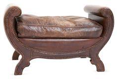Leather Bench | Cheryl & Ron Howard | One Kings Lane
