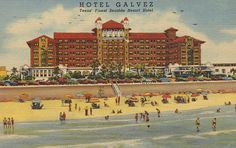 Renovated to celebrate the hotel's anniversary, Hotel Galvez offers beautiful views of the ocean & charming rooms. Galveston Cruise, Galveston Texas, Galveston Island, Vacation Trips, Mini Vacation, Family Vacations, Family Travel, Clean Beach, History Timeline
