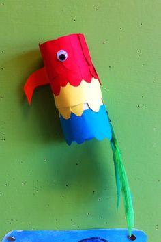 Kern 7 piraten, papegaai Easy Crafts, Diy And Crafts, Crafts For Kids, Arts And Crafts, Pirate Day, Pirate Theme, Pirate Crafts, Safari, Jungle Theme