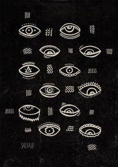 Risultati immagini per all over eyes illustration