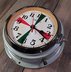 VTG SEIKO MARINE SHIP Radio Room SEIKOSHA SLAVE CLOCK JAPAN SUPER RARE! Aqua