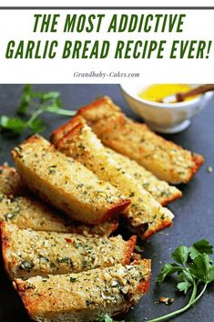 This Garlic Bread Recipe is perfectly buttery, garlicky, crunchy and addictive! I will teach you How To Make Garlic Bread from Scratch using the easiest and most delicious recipe with an irresistible homemade garlic bread spread. Garlic Bread Spread, Make Garlic Bread, Homemade Garlic Bread, Recipes With Bread, Best Garlic Bread Recipe, Garlic Butter For Bread, Garlic Recipes, Homemade Recipe, Fast Recipes