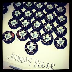 The perfect signature of HHOF member Johnny Bower