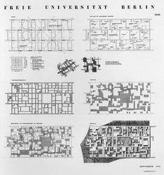 Candilis, Josic, Woods, Schiedhelm. Berlin Free University, 1963.Competition panel nº3