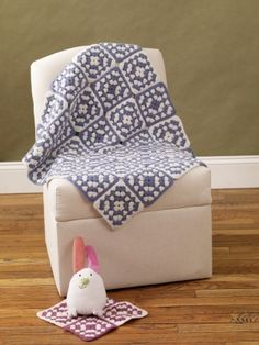 Free Crochet Pattern: Felted Granny Square Afghan