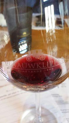 #blaauklippen #red #wine #stellenbosch Red Wine, Alcoholic Drinks, Glass, Food, Drinkware, Alcoholic Beverages, Corning Glass, Eten, Meals