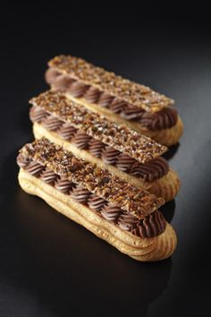 """Celebrity French chef Cyril Lignac's pastry shop, """"La Pâtisserie by Cyril Lignac,"""" opened in Paris's arrondissement on November Fancy Desserts, Köstliche Desserts, Delicious Desserts, Pastry Recipes, Cake Recipes, Dessert Recipes, Eclairs, Profiteroles, French Patisserie"""