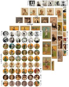 Vintage Baseball Hall of Famers printables, Players from Late 1800s & early 1900s